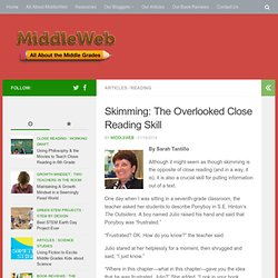 Skimming: The Overlooked Close Reading Strategy