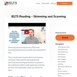 IELTS Reading- Skimming and Scanning – IELTS Advantage