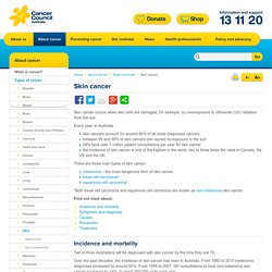 Skin cancer - Cancer Council Australia