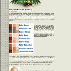 Skin Tones Tutorial, skin, tone, skin tone