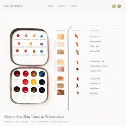 How to Mix Skin Tones in Watercolour - ELLA JACKSON