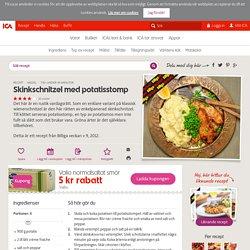 Skinkschnitzel med potatisstomp