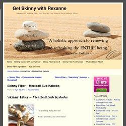 Skinny Fiber - Meatball Sub Kabobs