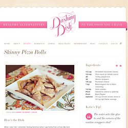 Skinny Pizza Rolls! | Dashing Dish