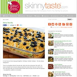 Skinny Taco Dip | Ginas Skinny Recipes - StumbleUpon