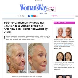 Better than botox: A mother reveals the anti-aging trick of the hollywood stars! Viewable results in 14 days...