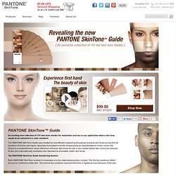 Skintone Guide - 100 real skin colors chart from Pantone color for cosmetics, fashion and designers.