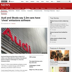 Audi and Skoda say 3.3m cars have 'cheat' emissions software