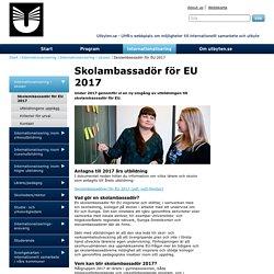 Skolambassadör för EU 2017 - utbyten.se