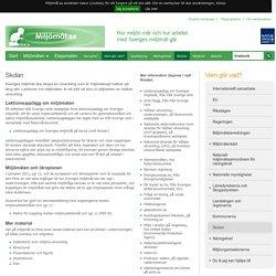 Skolan - miljömål.se