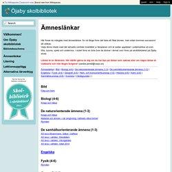 Öjaby skolbibliotek - Ämneslänkar