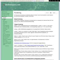 Skolbiblistans wiki - Forskning