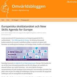 Europeiska skoldatanätet och New Skills Agenda for Europe – Omvärldsbloggen