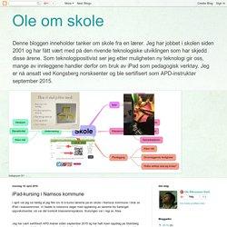 Ole om skole: iPad-kursing i Namsos kommune