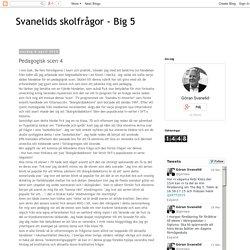 Svanelids skolfrågor - Big 5 : Pedagogisk scen 4