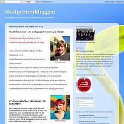 Skolbiblioteket - en pedagogisk resurs, på riktigt