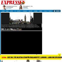 Skottlossning vid parlamentet i London