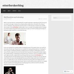 Skriftanalyse and utroskap – etterforskerblog