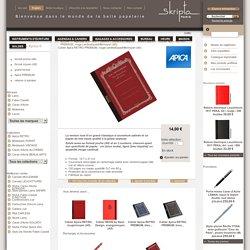 SKRIPTA-PARIS - Cahier Apica RETRO PREMIUM, rouge cardinal/quadrillé/moyen (A5)