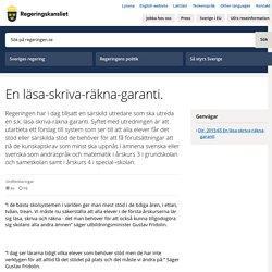 En läsa-skriva-räkna-garanti. - Regeringen.se
