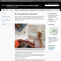 Ny skriveopplæring har gitt suksess - Institutt for lingvistiske og nordiske studier