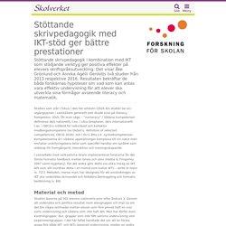 Stöttande skrivpedagogik med IKT-stöd ger bättre prestationer