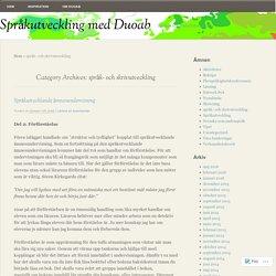 språk- och skrivutveckling