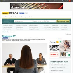 Skuteczne CV - Praca w INTERIA.PL