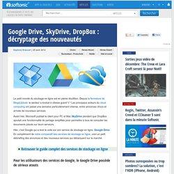 Google Drive, SkyDrive, DropBox: décryptage des nouveautés