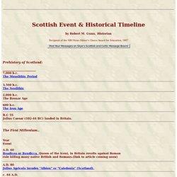 Skyelander's COMPLETE Scottish History Timeline