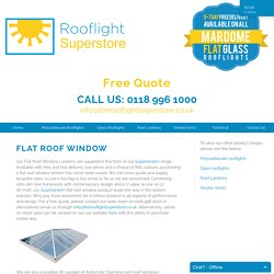 Buy Flat Roof Window With Good Characteristics