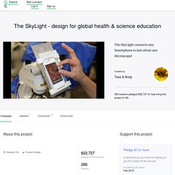 The SkyLight - design for global health & science education by Tess & Andy