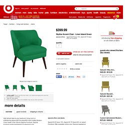 Skyline Accent Chair - Linen Island Green