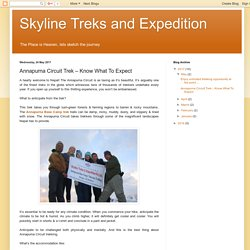 Skyline Treks and Expedition: Annapurna Circuit Trek – Know What To Expect