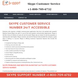 Skype Customer Service 1-800-709-6732
