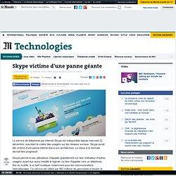 Skype victime d'une panne géante