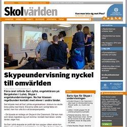 Skypeundervisning nyckel till omvärlden