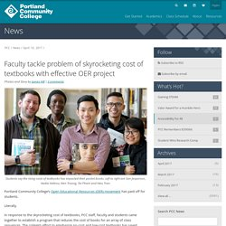 News: Faculty tackle problem of skyrocketing cost of textbooks with effective OER project