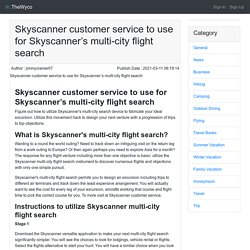 Skyscanner customer service to use for Skyscanner's multi-city flight search