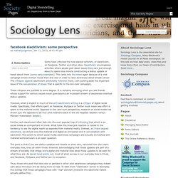 facebook slacktivism: some perspective » Sociology Lens