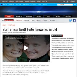 Slain Officer Brett Forte Farewelled In Qld