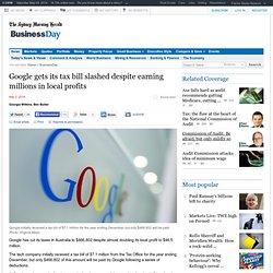 Google gets its tax bill slashed despite earning millions in local profits