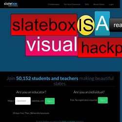 Slatebox :: Visualize Everything