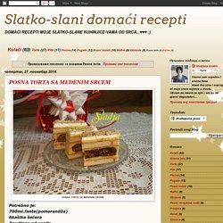 Slatko-slani domaći recepti: Posne torte