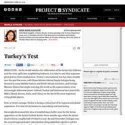 Turkey's Test - Anne-Marie Slaughter - Project Syndicate
