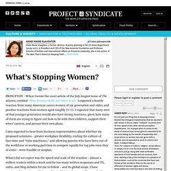 """What's Stopping Women?"" by Anne-Marie Slaughter"