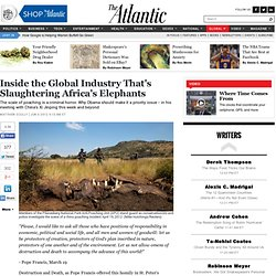 Inside the Global Industry That's Slaughtering Africa's Elephants - Matthew Scully