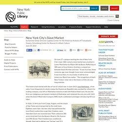 New York City's Slave Market