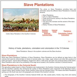 Slave Plantations ***