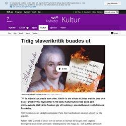 Tidig slaverikritik buades ut